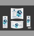 exhibition stand with another surgery concept vector image vector image