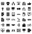 finance business icons set simple style vector image vector image