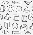 geometric shapes seamless pattern with flat line