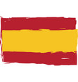 grunge spain flag or banner vector image