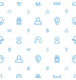 head icons pattern seamless white background vector image vector image