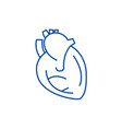 heart sign line icon concept heart vector image vector image