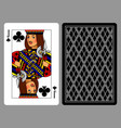 jack of clubs playing card and the backside vector image vector image