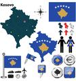 Kosovo map vector image