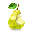 low poly pear isolated on a white vector image