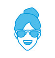 man with sunglasses smiling vector image vector image