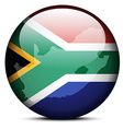 Map on flag button of Republic South Africa vector image vector image