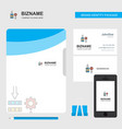 network setting business logo file cover visiting vector image vector image