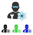 power engineer flat icon vector image vector image