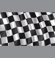 racing and rally car checkered flag vector image