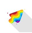 rainbow cursor vector image vector image
