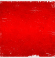 Red Christmas themed grungy background vector image vector image