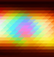 red pink green blue brown rows of triangles vector image vector image