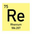 rhenium chemical symbol vector image vector image