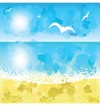 Sand beach sunset time vector image vector image