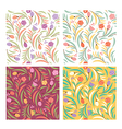 set od floral seamless patterns
