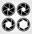 set of aperture icons vector image