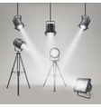 Set of scenic spotlights vector image