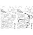 sledding maze vector image