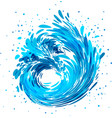 splash wave water stream vector image vector image