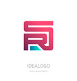sr or rs - design element or icon on white vector image vector image