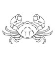 stylised crab vector image vector image
