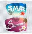 summer text with blot vector image vector image