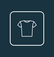 t-shirt outline symbol premium quality isolated vector image