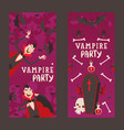 vampire style halloween party vertical banners vector image vector image