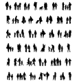 walking families vector image