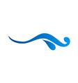 water abstract logo vector image vector image