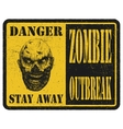Zombie Warning sign Hand drawn eps8 vector image vector image