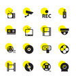 16 video icons vector image vector image