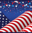 4th july background with american flag vector image