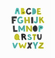 alphabet hand drawn letters isolated vector image