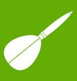 arrow to play dart icon green vector image vector image