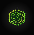 bacteria line green icon virology concept vector image vector image