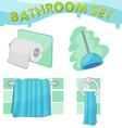 Bathroom Symbol icon set C vector image vector image