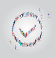 big people group standing together in check mark vector image vector image