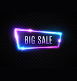 big sale neon sign on transparent background vector image