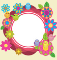 Birds and flowers cute background vector image vector image