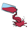 bottle splashing juice vector image