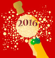 bubbly new year 2016 vector image vector image