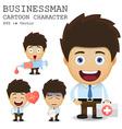 Businessman cartoon character EPS 10 vector image