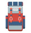 camping and travel backpack icon vector image vector image