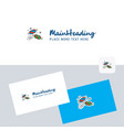 candies logotype with business card template vector image vector image