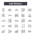 car resale line icons for web and mobile design vector image vector image