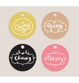 Chicory inscription logo set Typography design vector image
