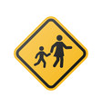 children crossing sign school area vector image vector image