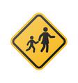 children crossing sign school area vector image
